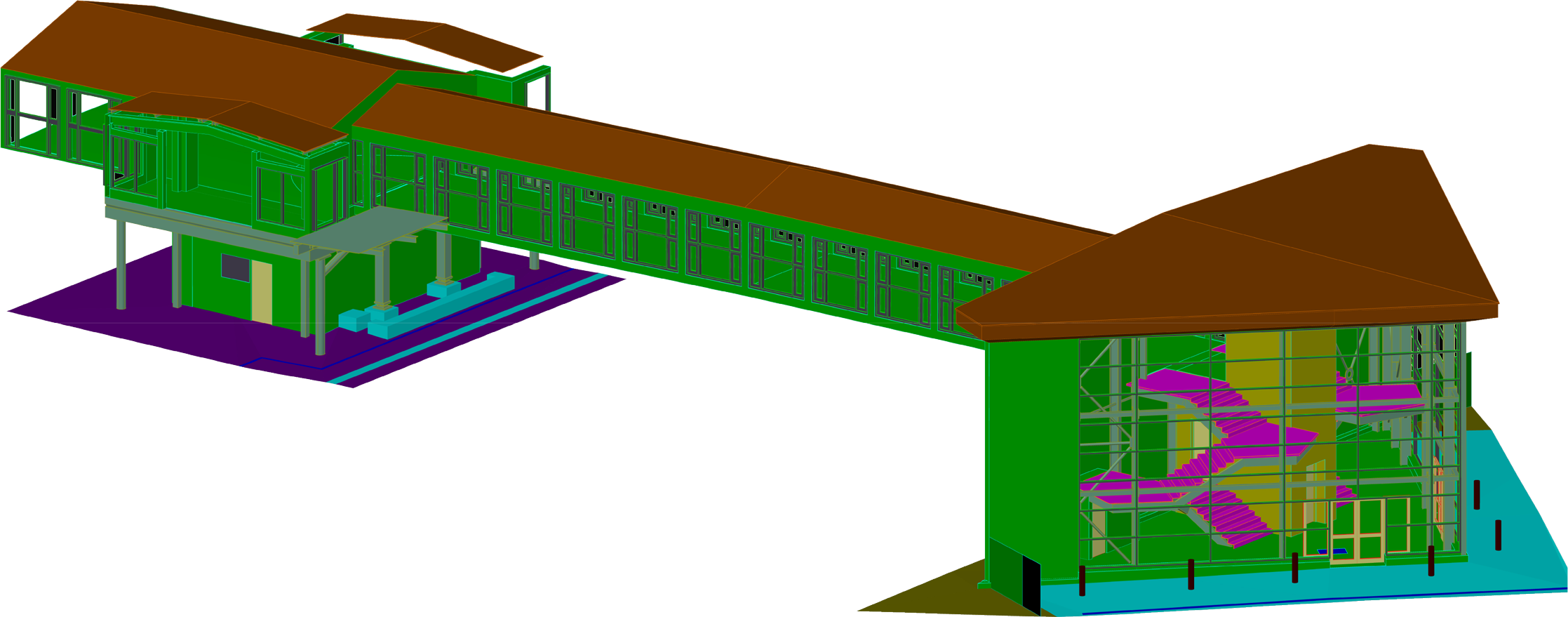 Derby Station Footbridge 3d CAD Model