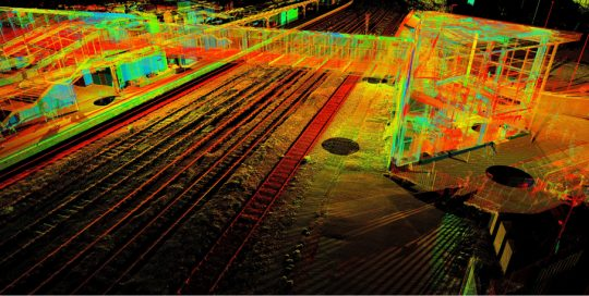 Point Cloud View of Footbridge at Derby Station