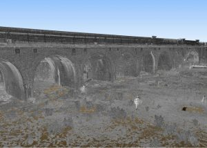 Irchester Viaduct 3D Laser Scan View