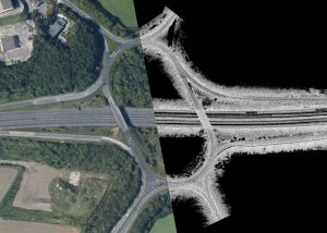 M1 Junction Composite of Aerial Image and Point Cloud