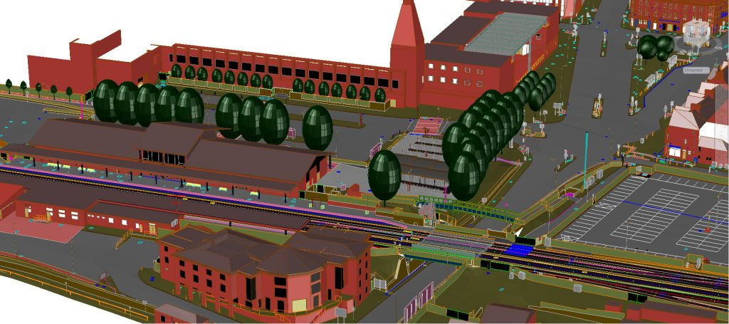 3D Building Models of Oxford Station and surrounding area