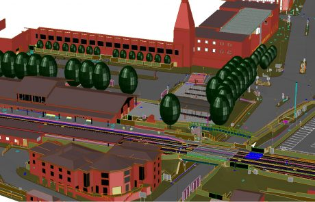 3D CAD Model of Oxford Station and surrounding area