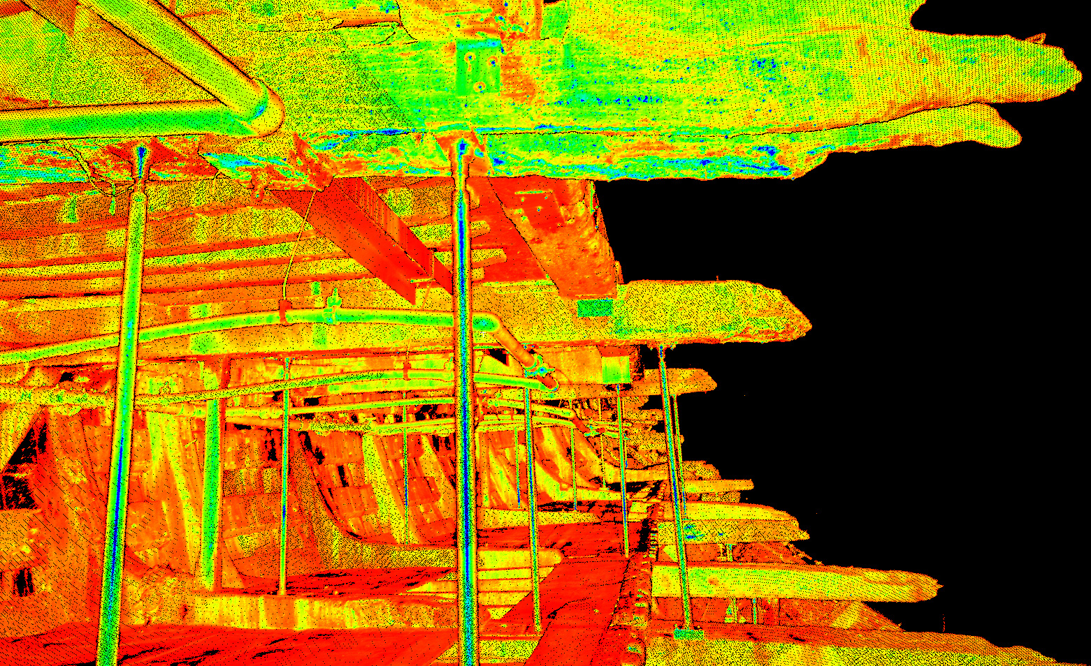 Point Cloud view of the Mary Rose Timbers