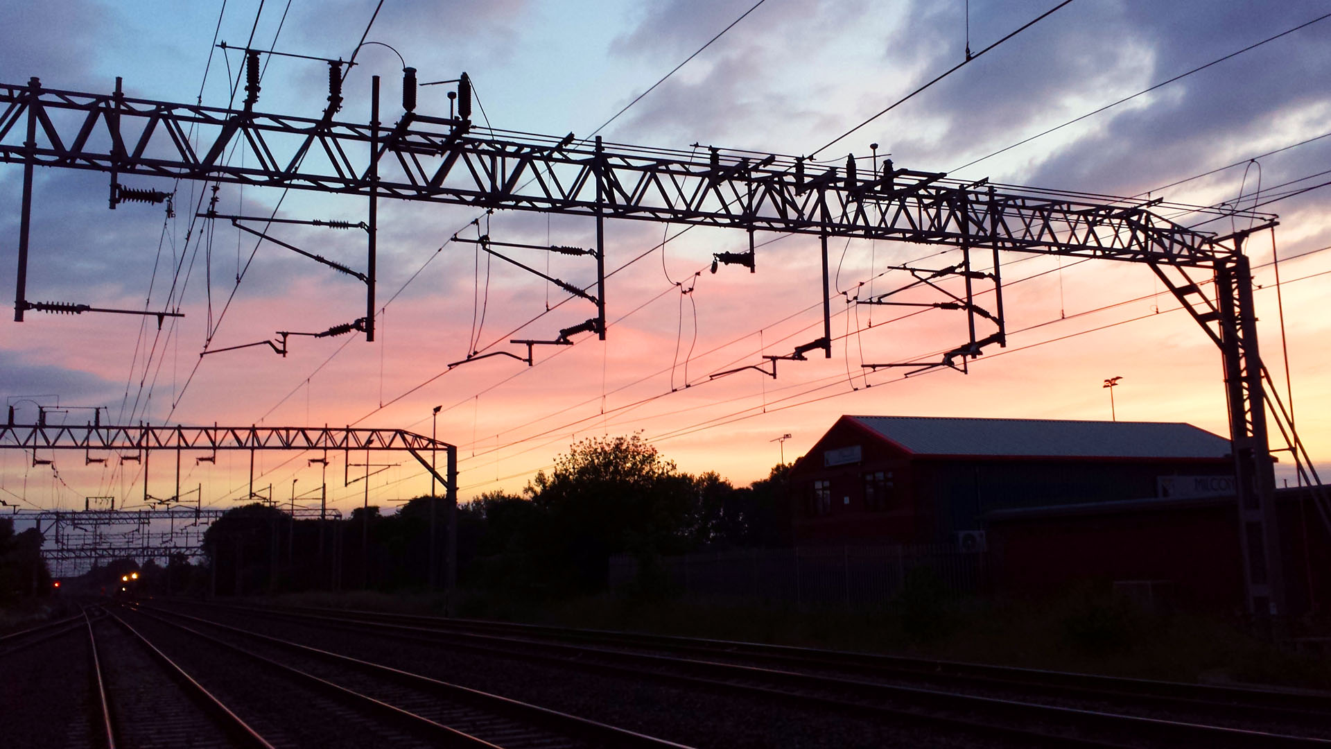 Railway OLE at sunrise